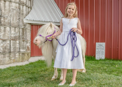 Flower Girl at Meadow Brook Barn