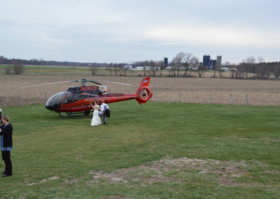 Helicopter Ride from Meadow Brook Barn