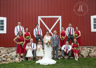 Meadow Brook Barn Wedding Party