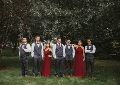 Meadow Brook Barn bridal party